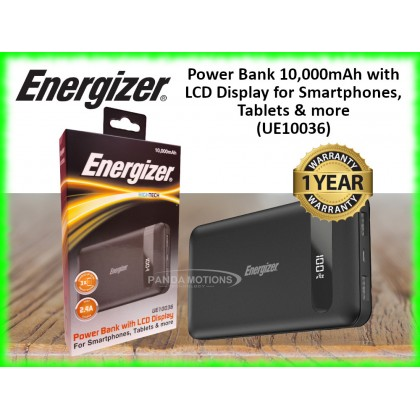 Energizer Power Bank 10,000mAh with LCD Display for Smartphones, Tablets & more (UE10036)